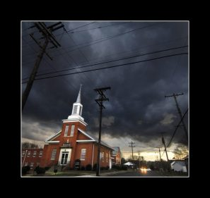 Church in the storm